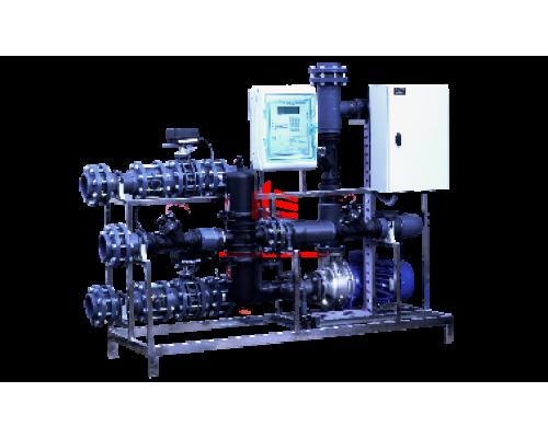 Водоподготовка с рециркуляцией и фильтрацией 100 м³/ч