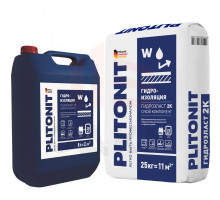 PLITONIT ГидроЭласт 2К (жидк.) двухкомпонентная гидроизоляция 8 л