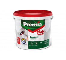 Шпатлевка PREMIA CLUB фасадная, ведро 3,5 кг