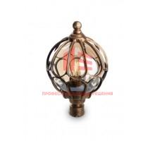 Светильник садово-парковый Feron PL3703 круглый на столб 60W 230V E27, черное золото