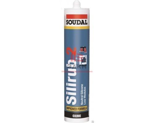 """Герметик """"Soudal"""" Silirub 2 силиконовый нейтральный 600мл, 12 шт/уп 104073"""
