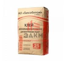 (Гипсобетон) Клей для керамической плитки для внутренних работ, мешок 25 кг
