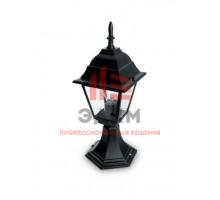 Светильник садово-парковый Feron 4104/PL4104 четырехгранный на постамент 60W E27 230V, черный