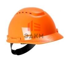 Каска защитная с вентиляцией, стандартное оголовье, оранжевая